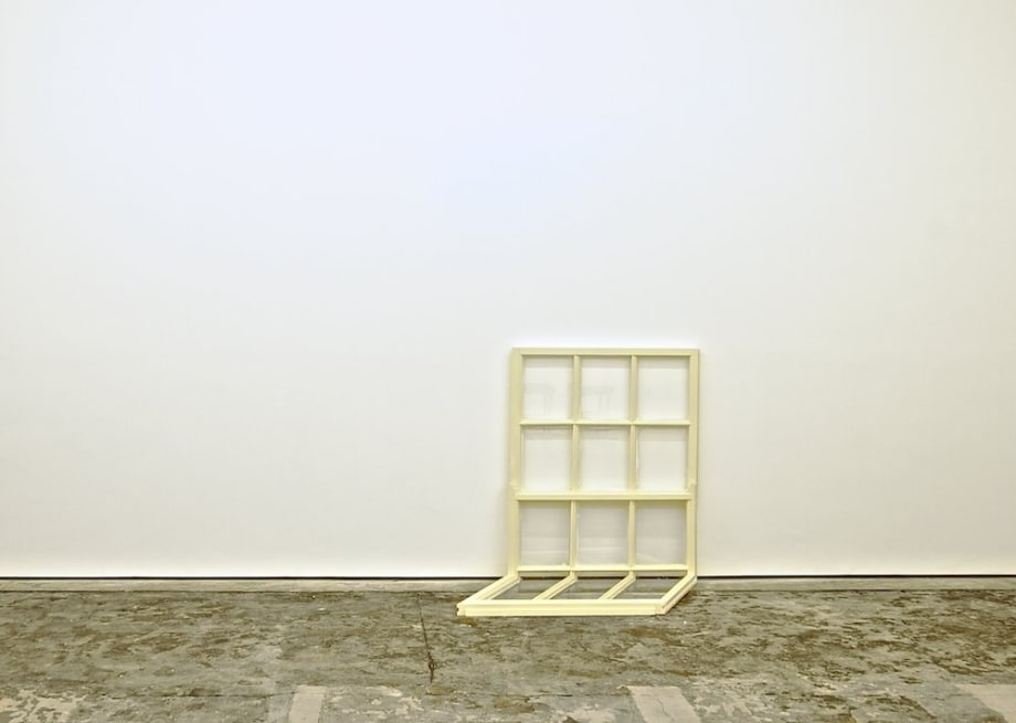 Latent Morning, 2010 wood, glass and paint 100 x 66 x 127 cm 39 3/8 x 26 x 50 in