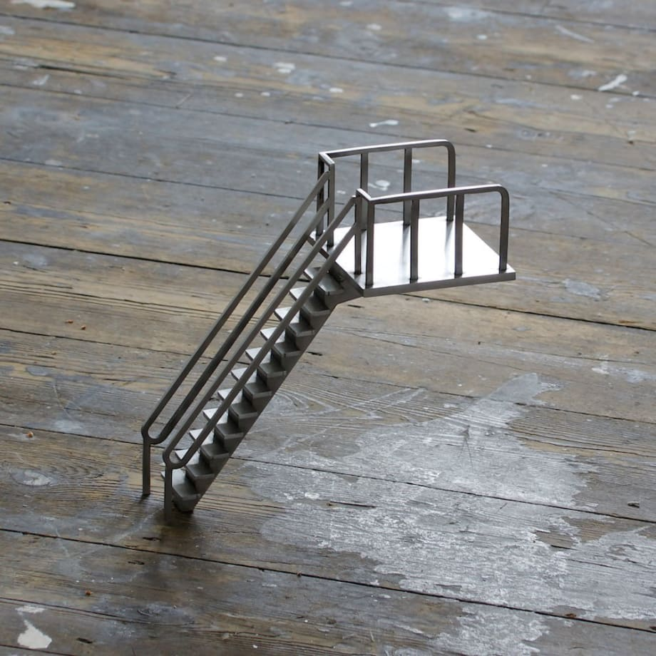 Cath Campbell Diving Board #2, 2011 Stainless steel 21 x 21 x 10 cm 8 1/4 x 8 1/4 x 4 in
