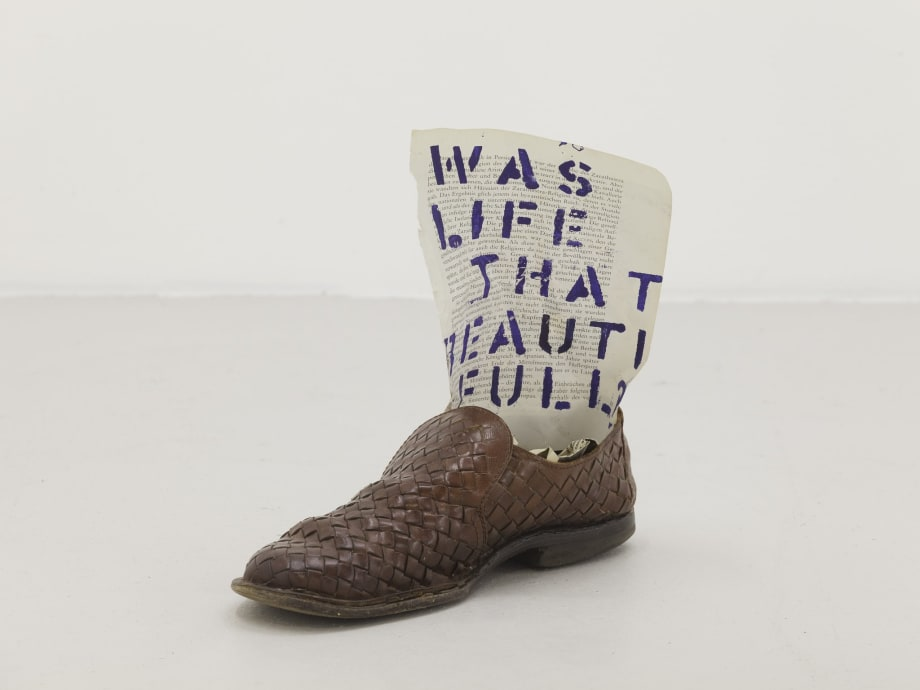 Was life that beautiful?, 2013 Mixed media 30 x 26 x 12 cm 11 3/4 x 10 1/4 x 4 3/4 in