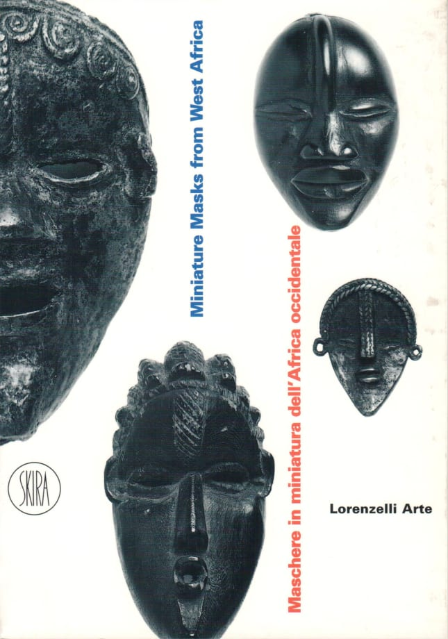 Maschere in miniatura dell'africa occidentale