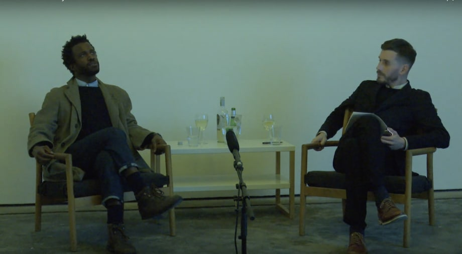 Simeon Barclay in conversation with Adam Carr, 7 November 2019 at Workplace Foundation, Gateshead, UK