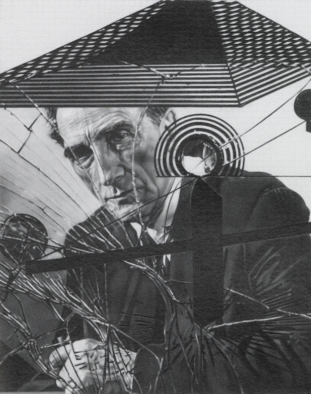 Duchamp Behind Glass