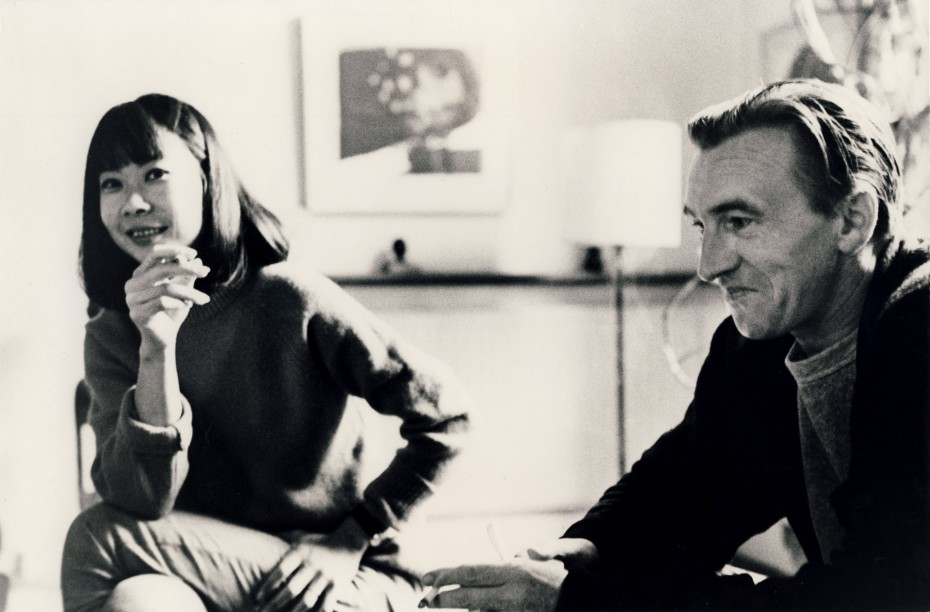 Kim Lim and William Turnbull at home in the 1960s. Image copyright Turnbull Estate, photographer unknown