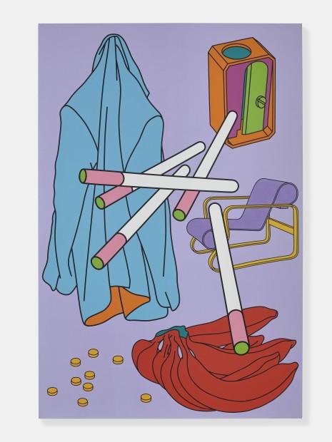 Michael Craig-Martin  b.1941  Untitled, 2000  acrylic on canvas  84 x 56 inches / 213.4 x 142.2 cm