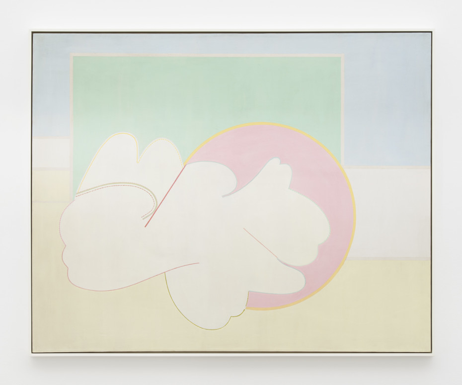Hannah Wilke  Untitled, c. 1963-65  Acrylic on canvas  121.9 x 152.7 cm, 48 x 60 1/8 ins  125.4 x 155.6 cm, 49 3/8 x 61 1/4 ins, framed