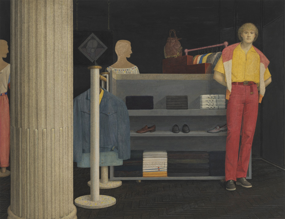 Graham Little Untitled (Boutique), 2019 Gouache on paper 36.4 x 47.4 cm, 14 3/8 x 18 5/8 ins 66.9 x 75.5 cm, 26 3/8 x 29 3/4 ins, framed