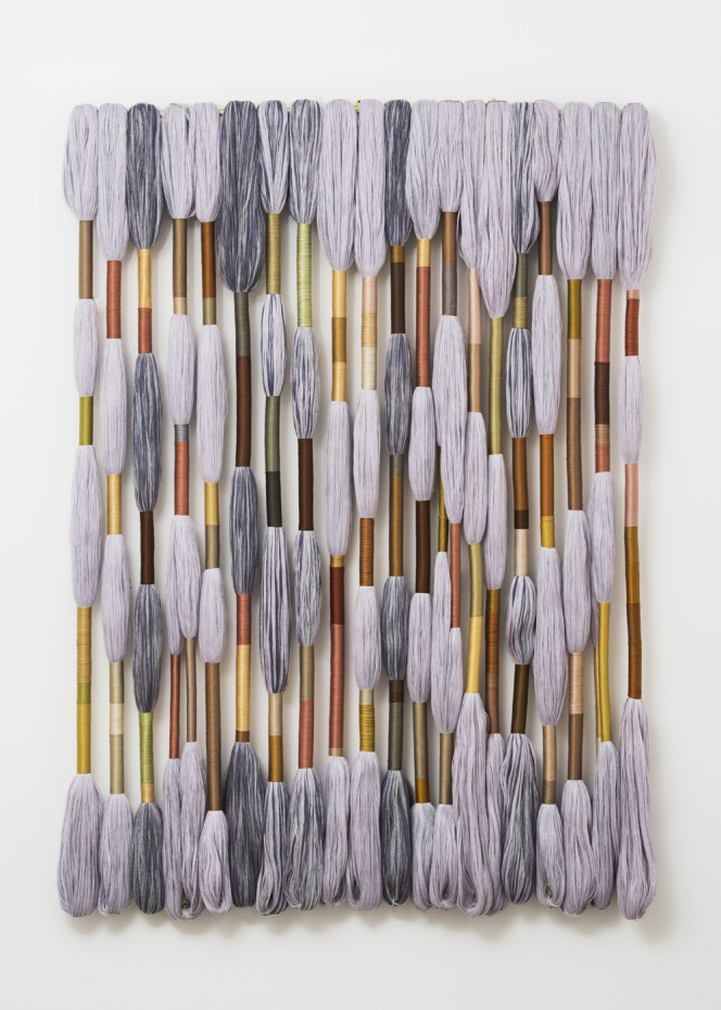 Sheila Hicks  Asclepion, 2018  Linen, 20 Lianes  170 x 120 x 10 cm, 66 7/8 x 47 1/4 x 4 ins