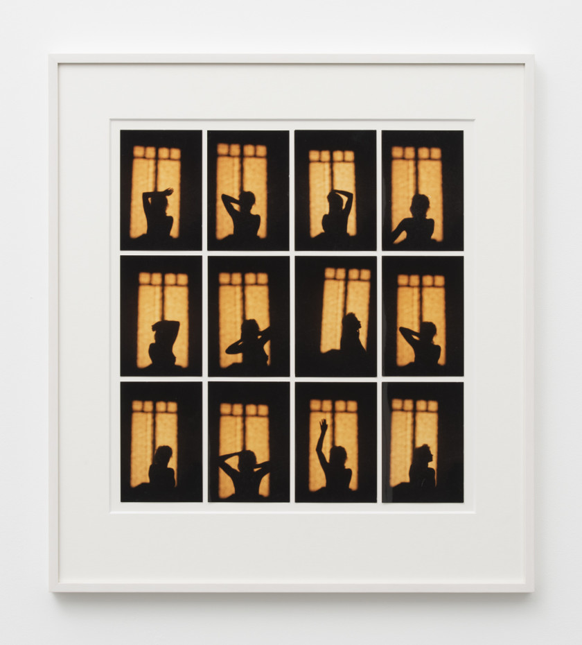 Birgit Jürgenssen  Untitled, 1996  12 colour photographs  12.8 x 8.8 cm, 5 1/8 x 3 1/2 ins, each  58 x 52 cm, 22 7/8 x 20 1/2 ins, overall, framed  Unique