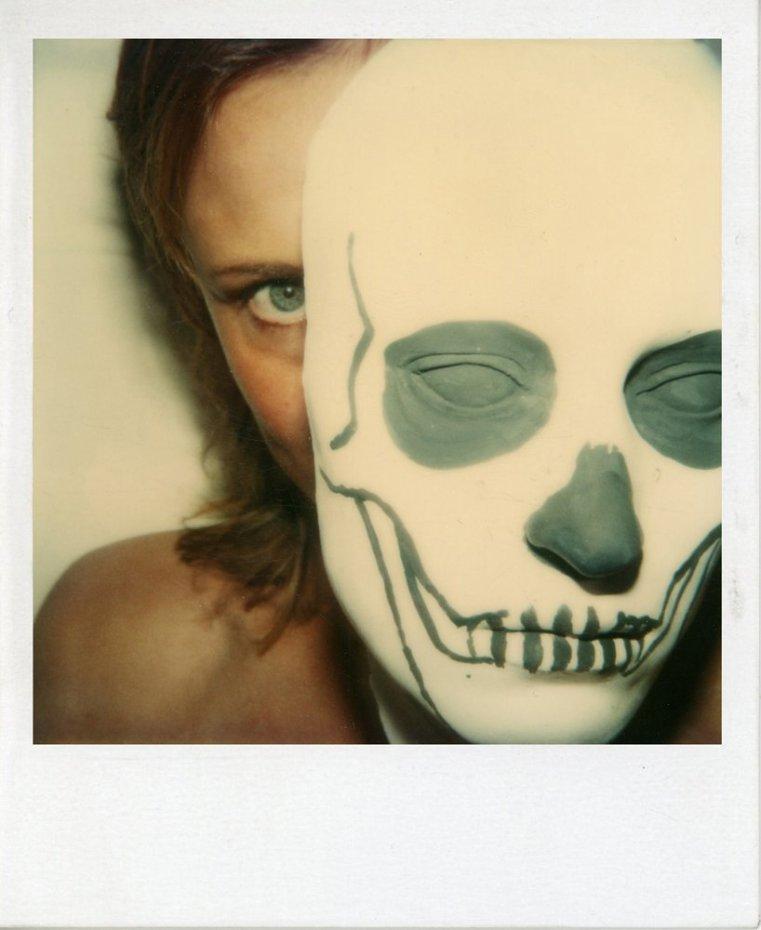 Birgit Jürgenssen  Untitled, 1978-1979  SX70 Polaroid  Unframed: 10.5 x 8.7 cm / 4 1/8 x 3 3/8 ins Framed: 34 x 29 cm / 13 3/8 x 11 3/8 ins