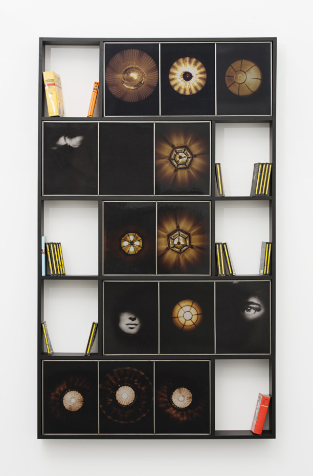 Birgit Jürgenssen  Regal (Bookshelf for Raymond Chandler), 1990/91  Bookshelf, mixed media  214.8 x 127.4 x 15.2 cm, 84 5/8 x 50 1/8 x 6 ins, bookcase  Unique  Signed & dated