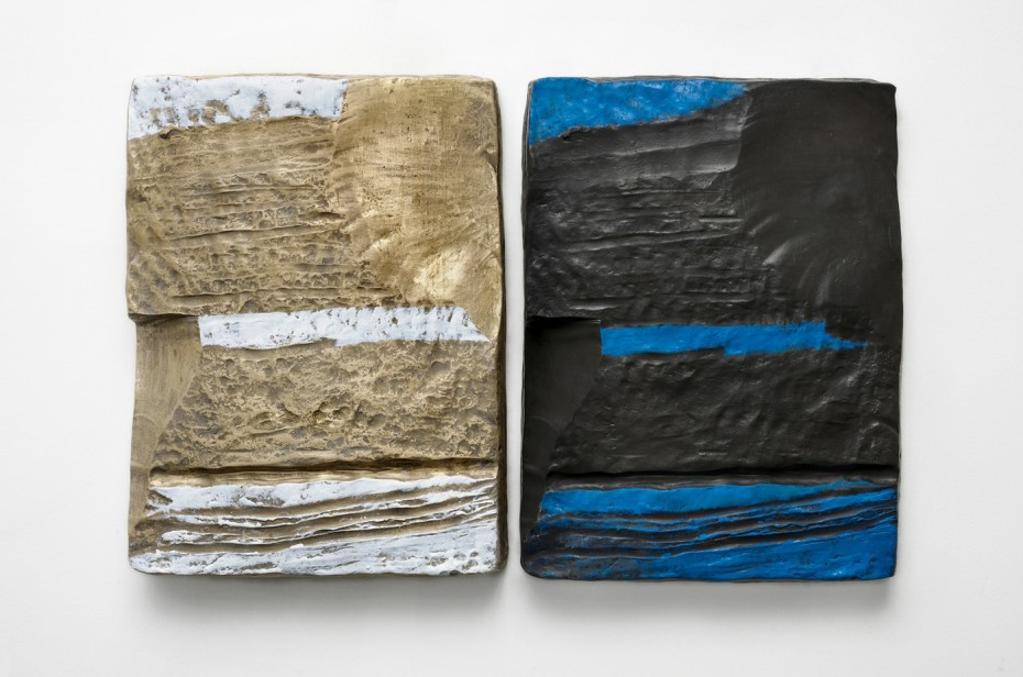 <div class=&#34;artist&#34;><strong>Erika Verzutti</strong></div><div class=&#34;title&#34;><em>The Dress</em>, 2015</div><div class=&#34;medium&#34;>Bronze and acrylic</div><div class=&#34;dimensions&#34;>Diptych<br>Each panel: 60 x 44 x 8.5 cm / 23 5/8 x 17 3/8 x 3 3/8 ins</div><div class=&#34;edition_details&#34;>Edition 1/3 + 1AP</div>