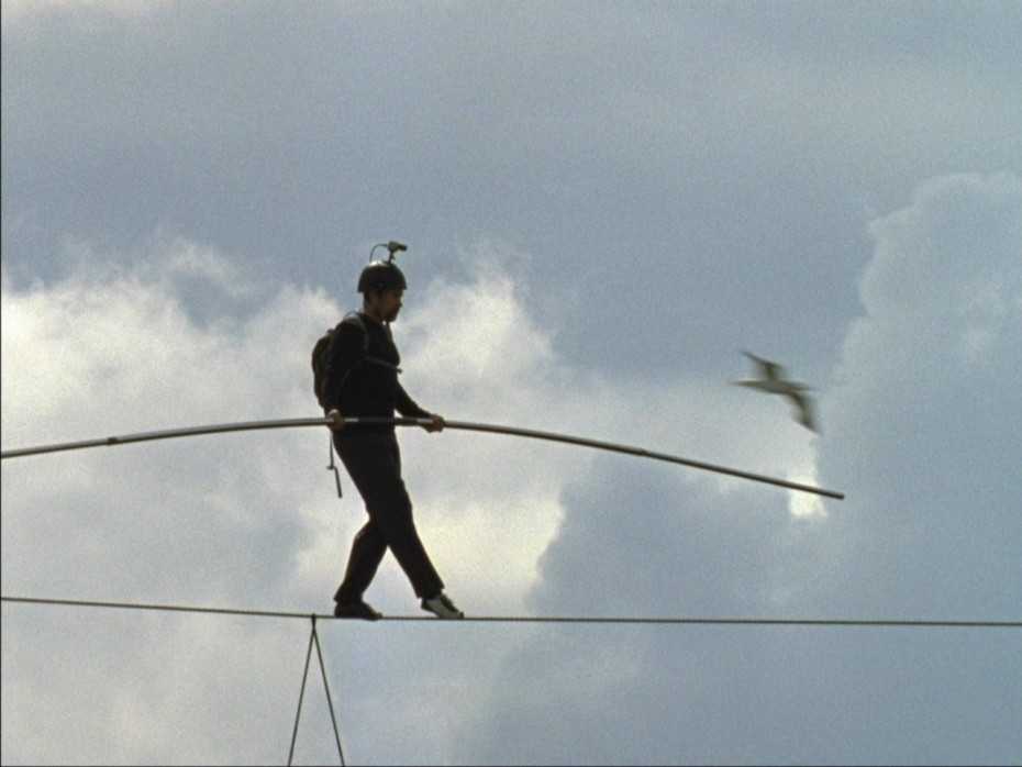 Catherine Yass, High Wire, 2008 16mm film and MiniDv transferred to HD MPEG digital files 7 mins, 23 second loop.