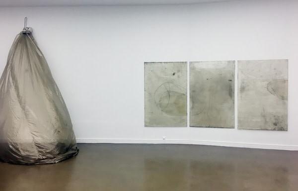 Ian Kiaer, 'Endnote, tooth', 2017. Plexiglass, acrylic, varnish, paper, pencil, charcoal, fan.
