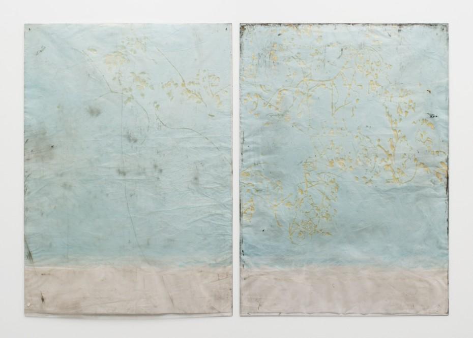 Ian Kiaer, Endnote, ping (marder/blue), 2018. © Ian Kiaer