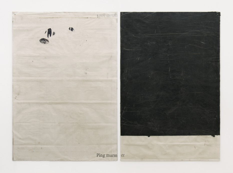 Ian Kiaer, Endnote, ping (murmer/black), 2018. © Ian Kiaer