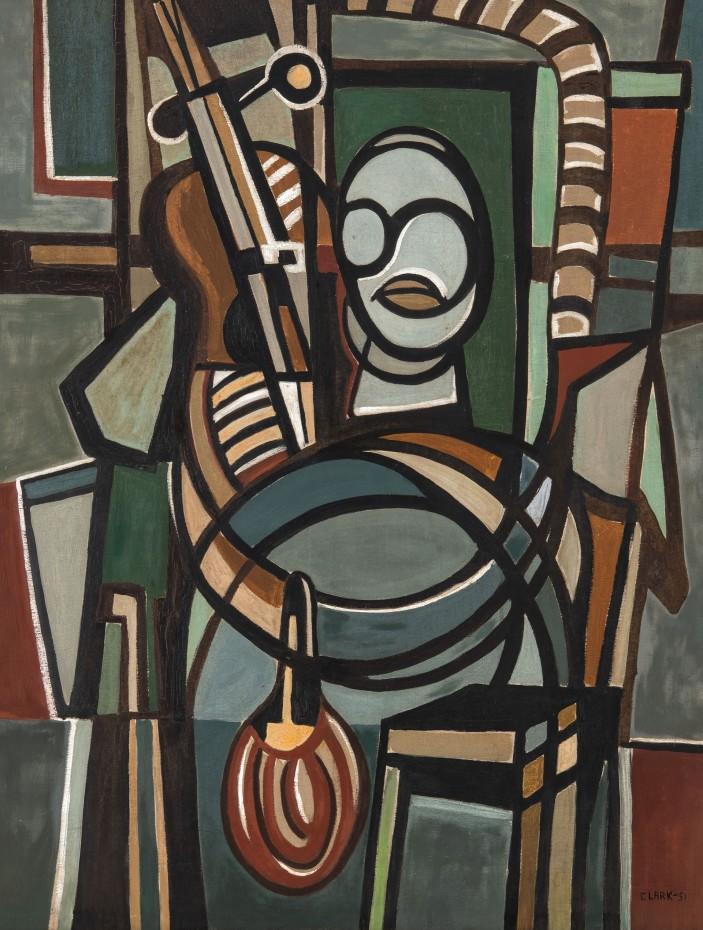 "Lygia Clark, The Violoncellist (O Violoncelista), 1951 © Courtesy of ""The World of Lygia Clark"" Cultural Association"