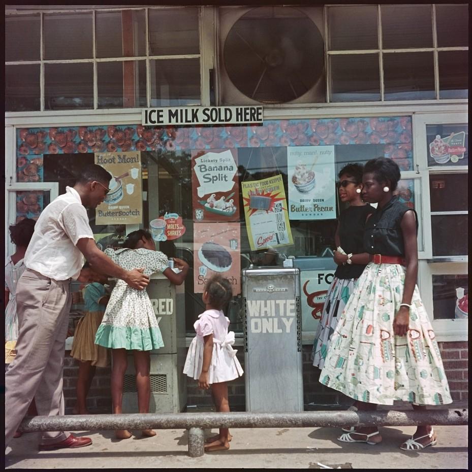 Gordon Parks, 'At Segregated Drinking Fountain, Mobile, Alabama', 1956. © The Gordon Parks Foundation