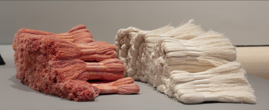 Sheila Hicks, Cartridges and Zapata, 1962-1965. Photo: Dennis Doorly. © Sheila Hicks⁠