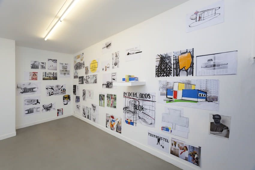 Erik van Lieshout  'Ministry of Subculture', 2012, installation Collage on paper