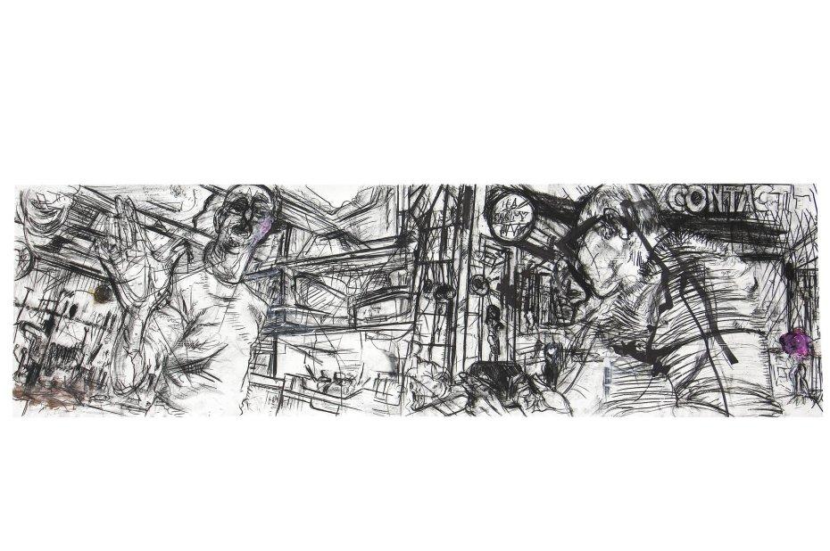 Erik van Lieshout, Contact, 2011, mixed media on paper