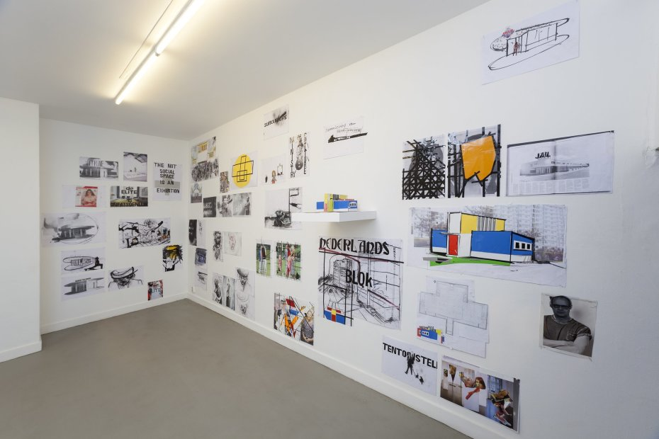 Erik van Lieshout  'Ministry of Subculture', 2012, installation Collage on paper  Part of Janus, 2012