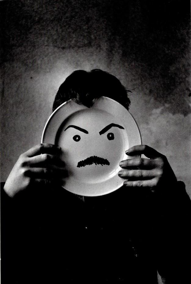 Ed van der Elsken Appel, clowning with self-portrait, 1957
