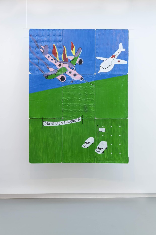 Dick Verdult Día de la Emergencia, 2014 Acrylic enamel paint on cardboard 234 x 174 x 0.5 cm