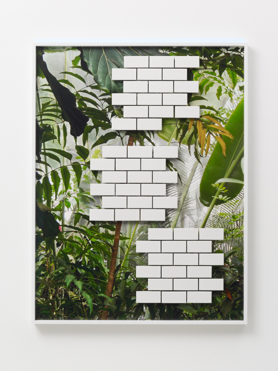 Jungle #02, 2014  archival pigment print, ceramic tiles, mirror  108.6 x 83.3 x 4.5 cm 42 3/4 x 32 3/4 x 1 3/4 in.