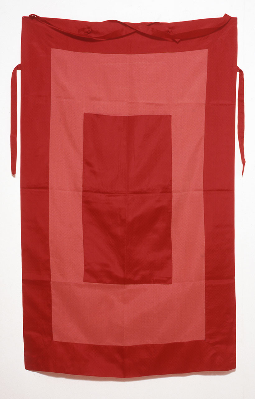 Red Silk With Linen Backup Personal Panel, 1999
