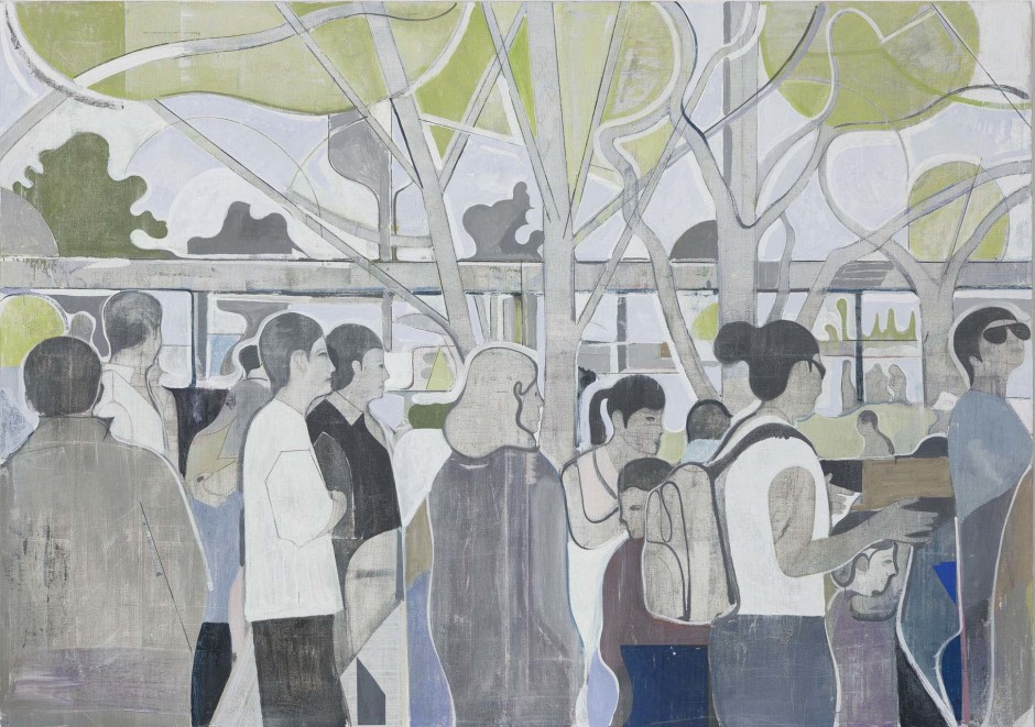 Untitled (figures waiting in line), 2008