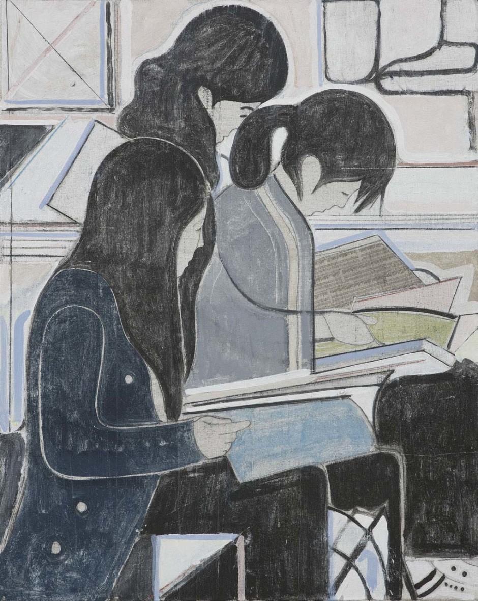 Untitled (study of three women reading), 2008