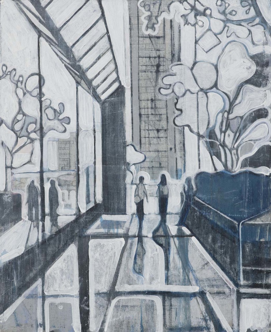 Untitled (two figures reflected in window), 2008
