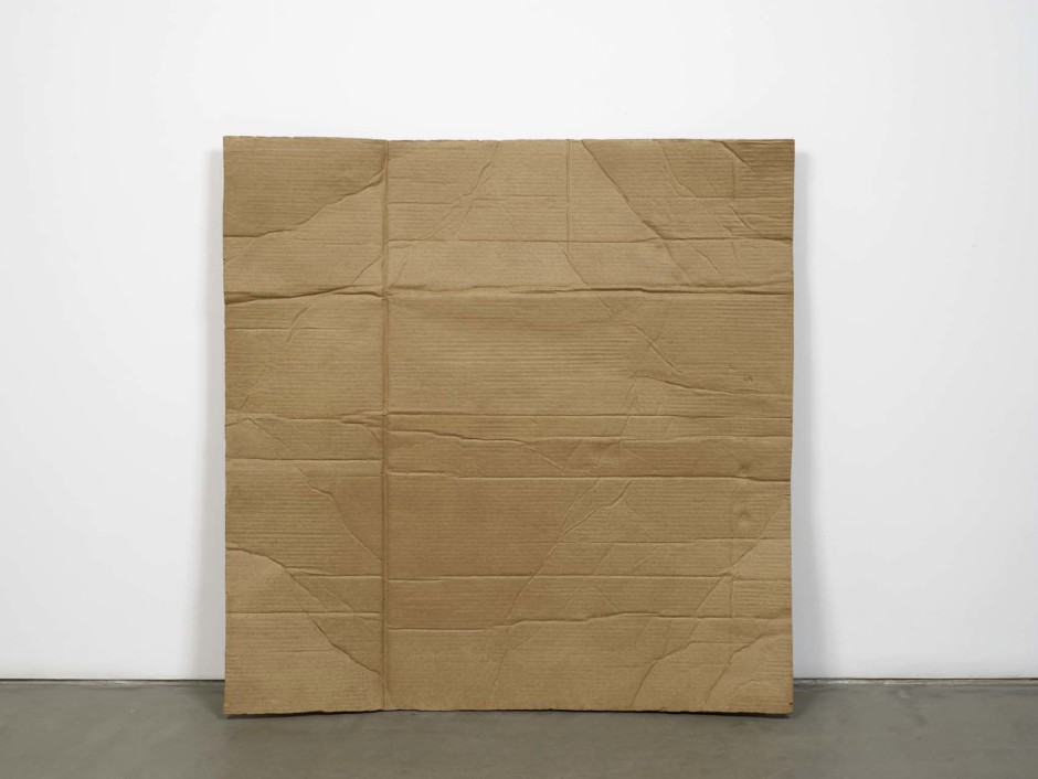 still.life. (cardboard leaning on the wall), 2009