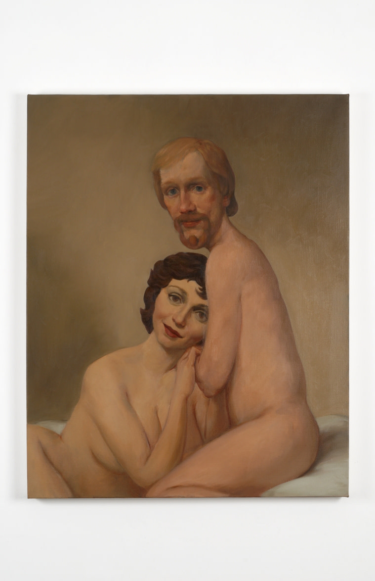 Couple in Bed, 1993  signed  oil on canvas  101.6 x 81.9 cm 40 x 32 1/4 in.
