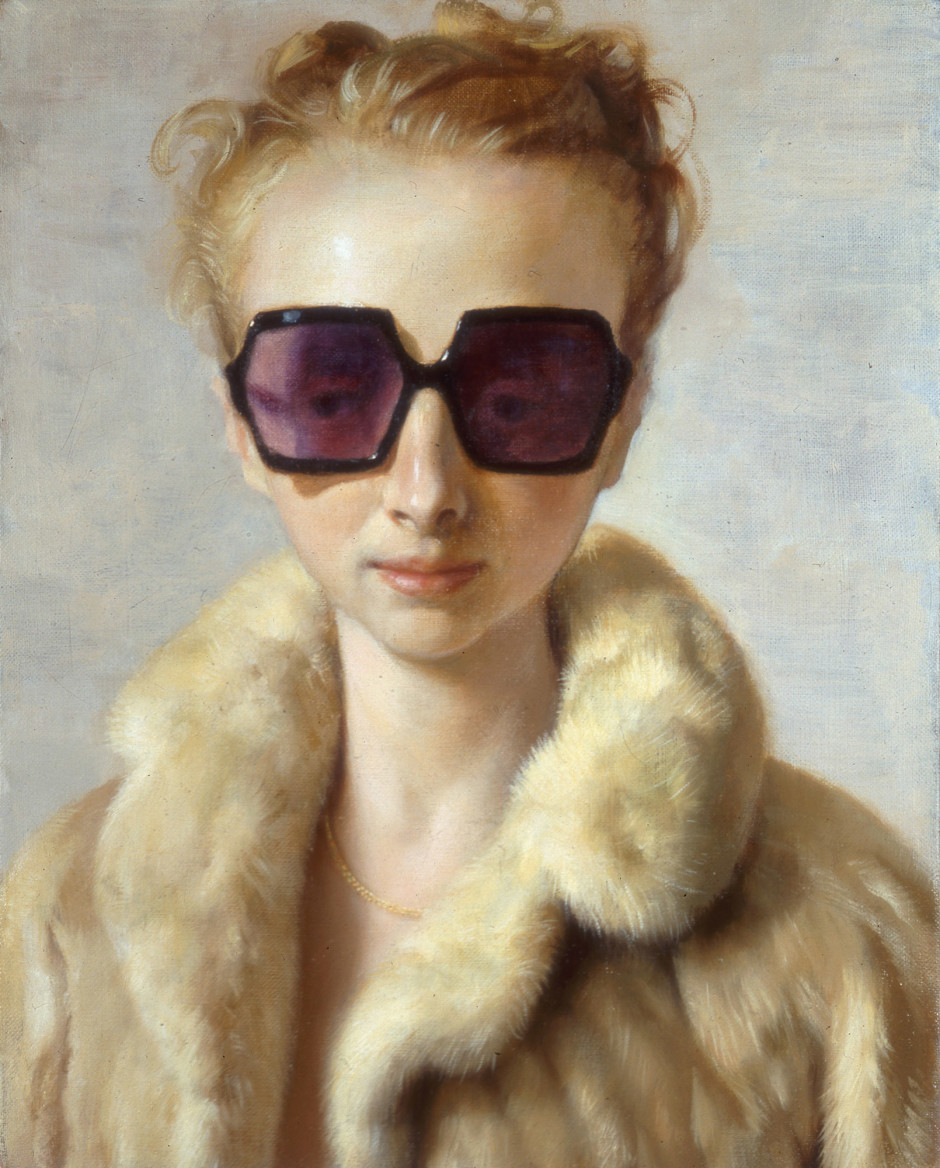 Rachel in Fur, 2002  oil on canvas  50.8 x 40.64 cm 20 x 16 in.