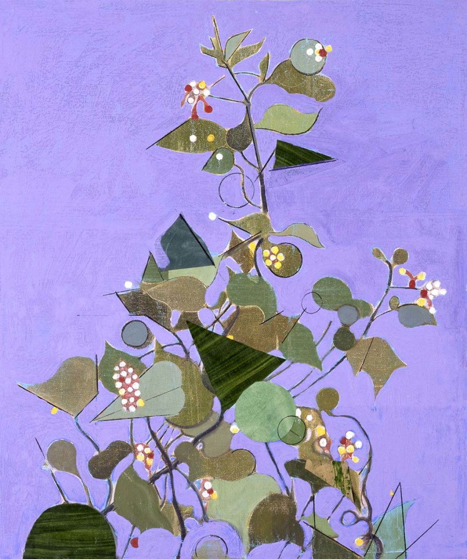Flowers with Purple Background, 2010