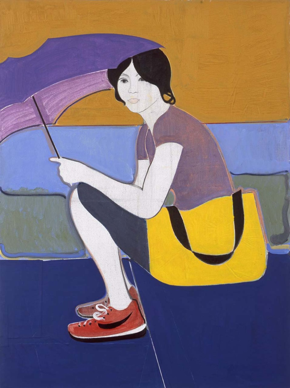 Woman with Purple Umbrella, 2010