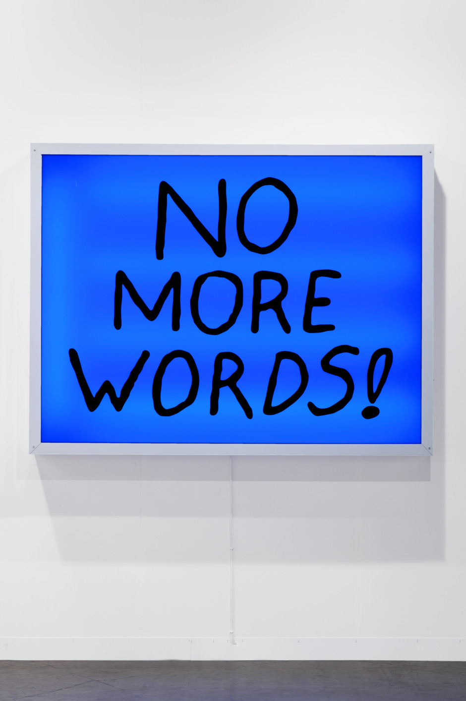 No More Words, 2013  lightbox  137.2 x 177.8 cm 54 x 70 in.