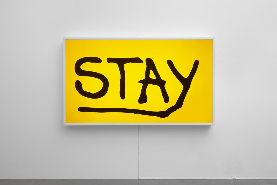Stay, 2017  light box  130.0 x 223.0 x 15.0 cm 51 1/8 x 87 3/4 x 5 7/8 in.