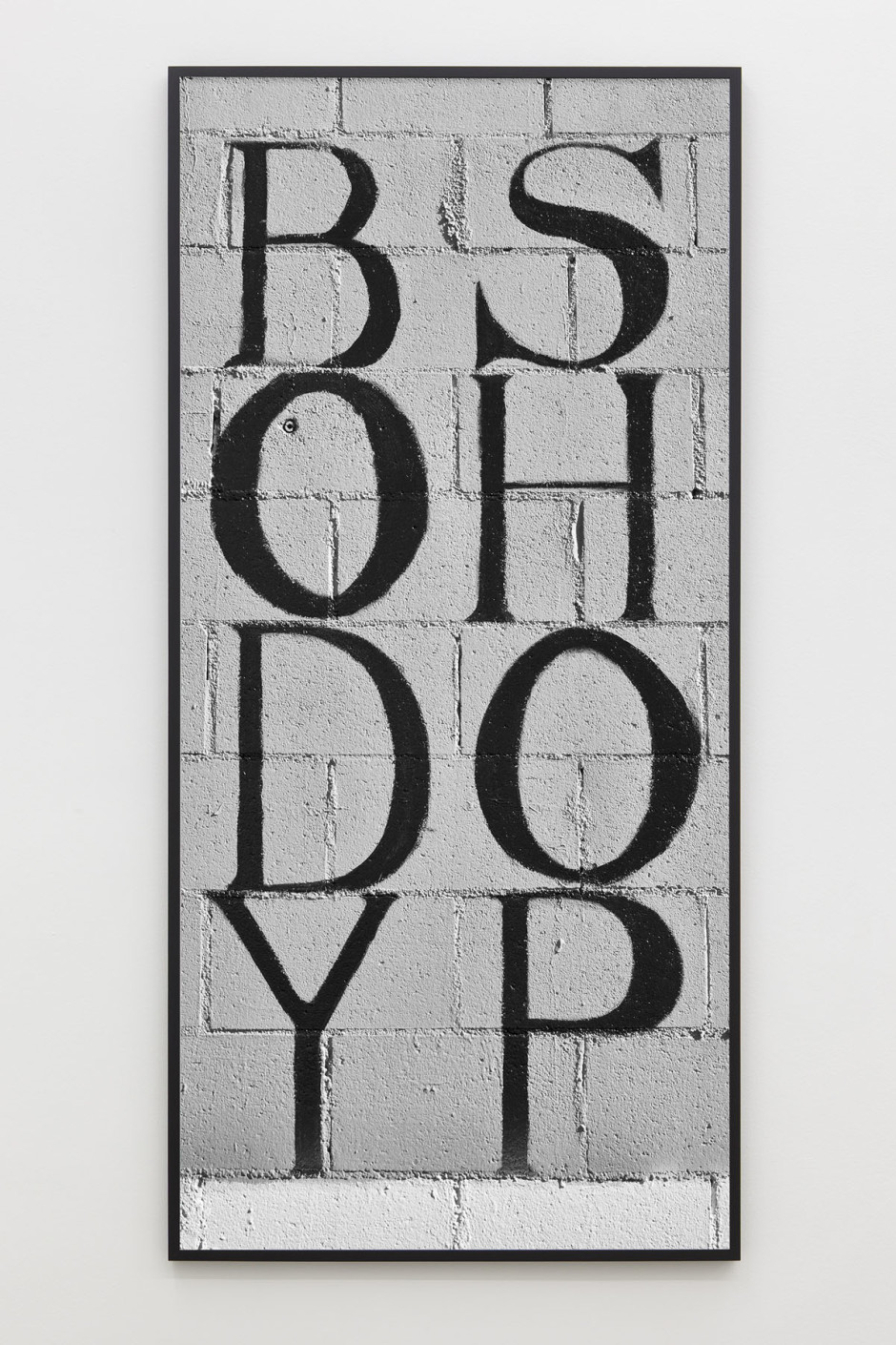 The Body Shop, 2014  archival pigment print  206.2 x 97.0 x 5.5 cm 81 1/8 x 38 3/16 x 2 1/8 in.