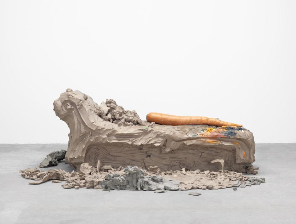8, 2014  cast bronze, oil paint, gold leaf, clay bole, chalk gesso, rabbit skin glue  78.7 x 215.9 x 199.4 cm  31 x 85 x 78 ½ in