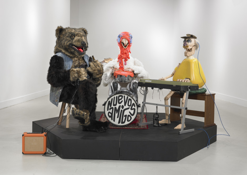 Neue Freunde (The band), 2013  mixed media, moving installation 3 x (170 x 160 x 100 cm) + 3 x (50 x 150 x 150 cm) Photo courtesy of Tim Van Laere Gallery