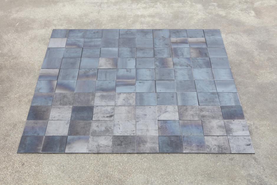 10th Iron Square, 2008  iron  100.0 x 100.0 cm 39 5/16 x 39 5/16 in.