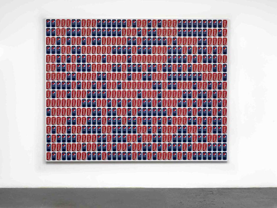 Coke/Pepsi, 2013  UV ink on vinyl  216.0 x 272.0 x 4.0 cm 85 x 107 1/16 x 1 9/16 in.