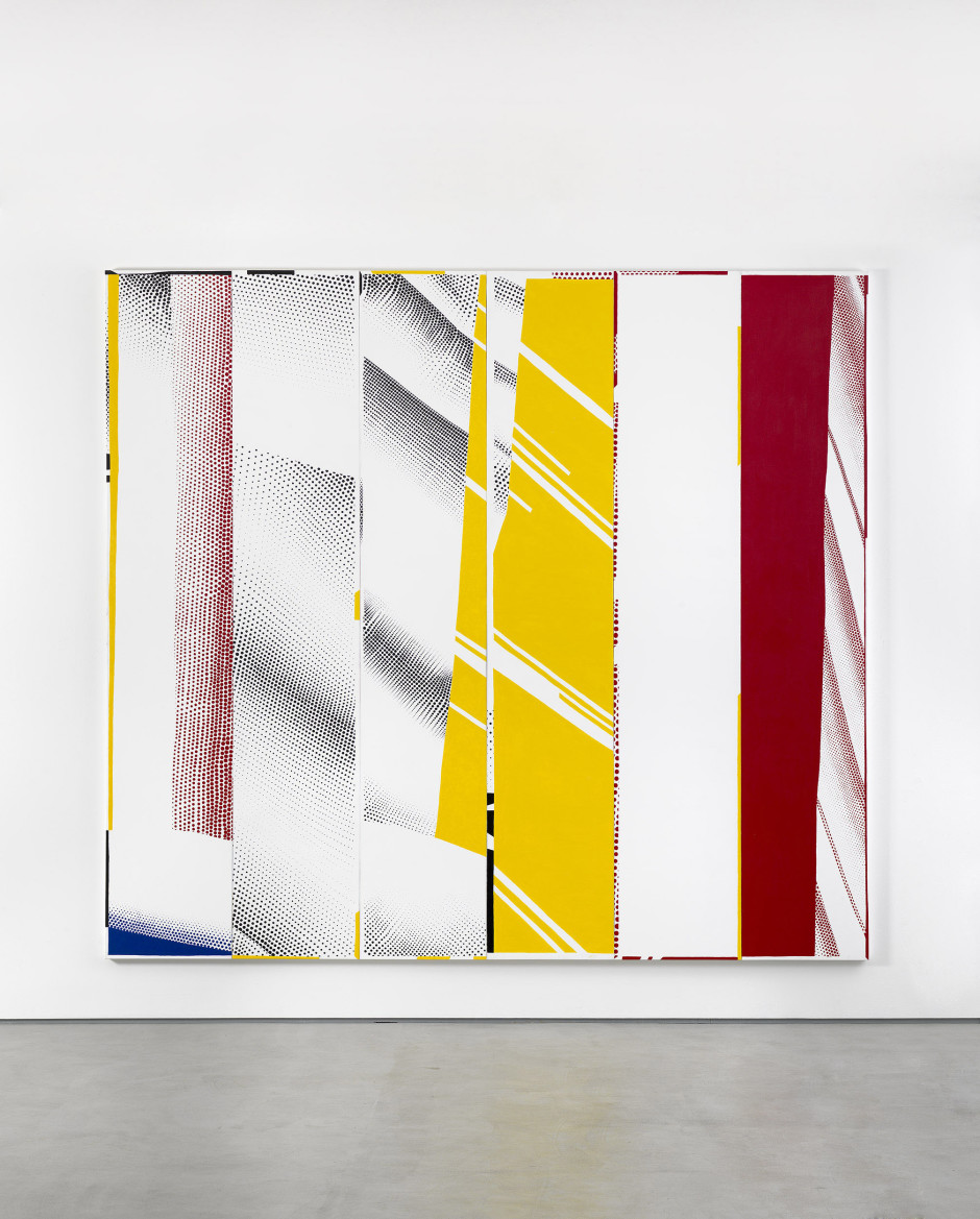 "Group Self-portrait in ""Mirror #3 (Six Panels)"" (Michael, Nir, Jayne, Cy, Diego, Rebecca), 2015  acrylic on canvas  304.8 x 335.3 x 4.5 cm 120 x 132 x 1 3/4 in."
