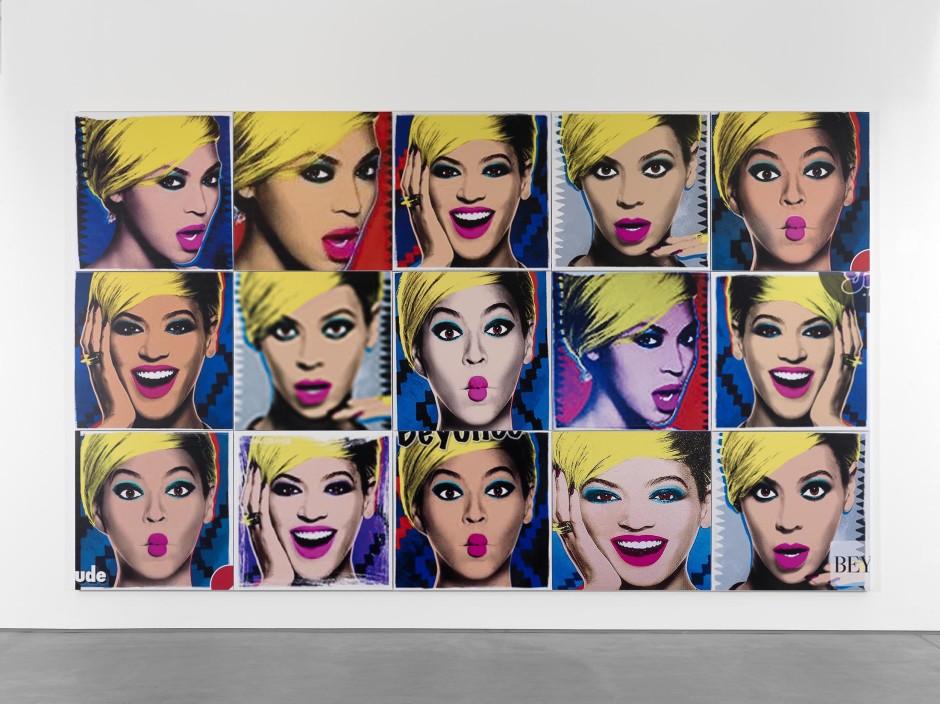 Beyoncé (3 x 5), 2015  UV ink on vinyl  304.8 x 508.0 x 4.5 cm 120 x 200 x 1 3/4 in.