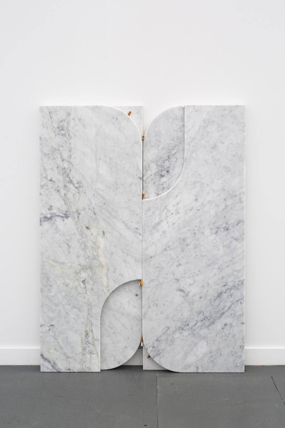 1 2 3 3 2 1, 2015  four marble slabs, nine cigarette butts  134.9 x 89.8 x 5.9 cm 53 1/8 x 35 3/8 x 2 5/16 in.