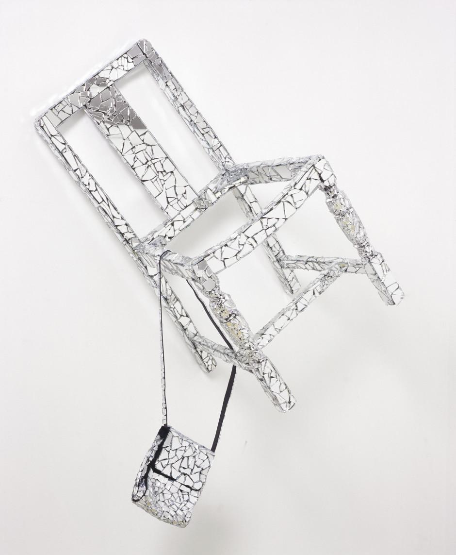 Danceteria VI, 2006  broken mirror, chair, handbag, glue  128.0 x 84.0 x 48.0 cm 50 3/8 x 33 1/8 x 18 7/8 in.