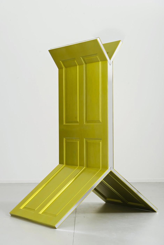 TBD, 2017  2 wooden doors, Perspex mirror, automative paint  163 x 76 x 122.5 cm  64 ⅛ x 29 ⅞ x 48 ⅛ in