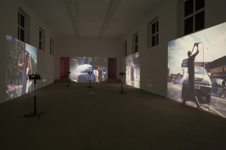 Car Wash, 2005  320 35mm slides, 4 Kodak Ektapro 9020 Slide Projectors, 4 Unicol Projector Stands  dimensions variable